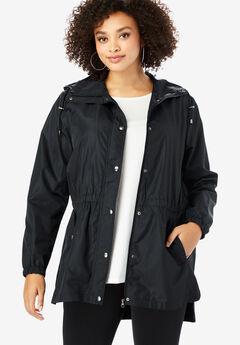 Essential Rain Jacket with High-Low Hem,