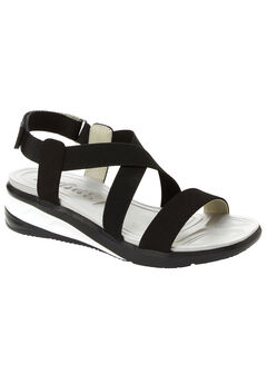 Sunny Sandals by JSport®, SOLID BLACK, hi-res