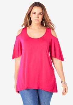 Cold-Shoulder Ultra Femme Tunic,
