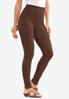 Ankle-Length Essential Stretch Legging, RICH BROWN