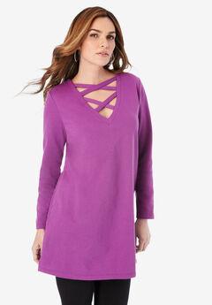Crisscross Sweatshirt Tunic,
