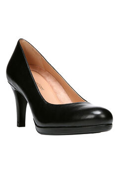 Michelle Pump by Naturalizer®, BLACK LEATHER
