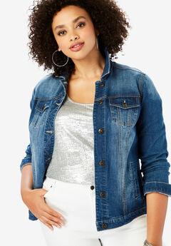 Essential Denim Jacket by Denim 24/7®, MEDIUM STONEWASH, hi-res