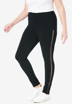 Crochet Legging, BLACK, hi-res