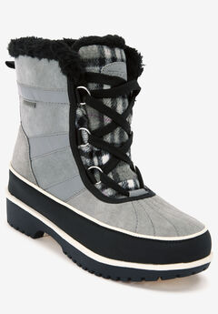 The Brienne Waterproof Boot , GREY PLAID