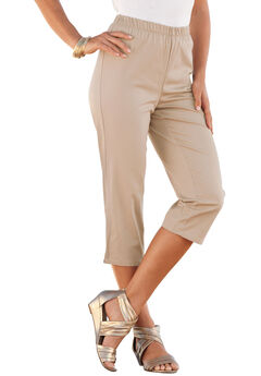 Stretch Capri Jean by Denim 24/7®, NEW KHAKI, hi-res