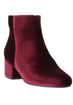 Sidney Booties by Comfortview, BURGUNDY, hi-res