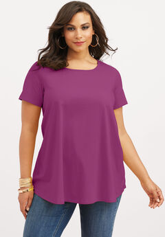 Swing Ultimate Tee with Keyhole Back, RICH MAGENTA