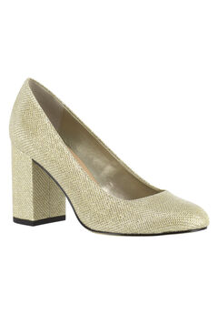 Nara II Pump by Bella Vita®, GOLD GLITTER, hi-res