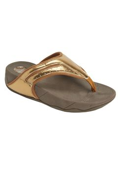 Sporty Thong Sandal by Comfortview®, BRONZE, hi-res