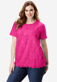 Floral Applique Tee,