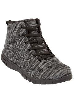Erica Sneaker Booties by Comfortview, BLACK, hi-res