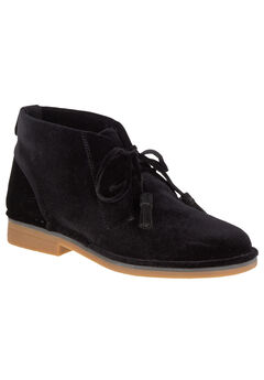 Cyra Catelyn Booties by Hush Puppies®, BLACK VELVET, hi-res
