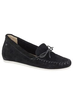 Larghetto Carine Flats by Hush Puppies®, BLACK SUEDE, hi-res
