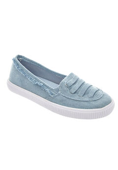 Analia Slip-Ons by Comfortview®, LIGHT DENIM