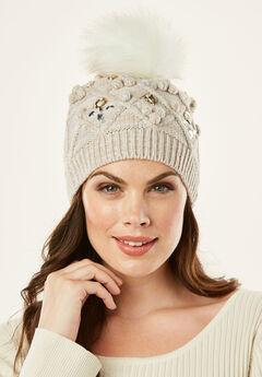 Cable Knit Pom Pom Hat,