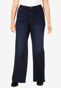 Wide-Leg Jean By Denim 24/7®, DARK WASH