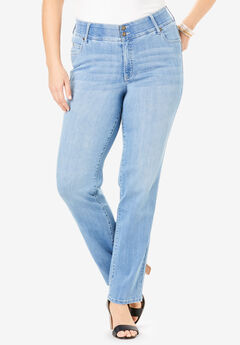 The Skinny-Leg Curvy Jean by Denim 24/7®, LIGHT WASH