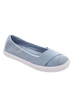 Jazlyn Slip-Ons by Comfortview®, DENIM
