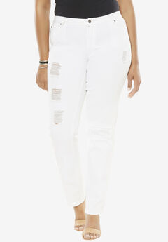Distressed Jeans by Denim 24/7®, WHITE DENIM