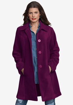 Plush Fleece Jacket, DARK BERRY