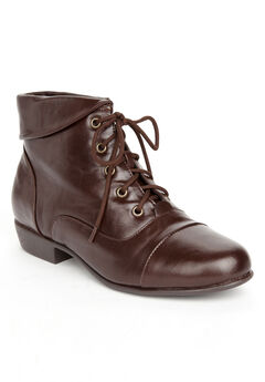 Darcy Bootie by Comfortview, BROWN, hi-res