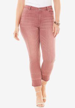 Released Hem Skinny Jeans by Denim 24/7®, VINTAGE PLUM, hi-res