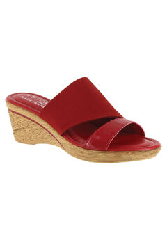 Adagio Sandal by Easy Street®, RED PATENT STRETCH, hi-res