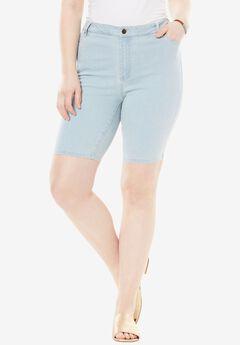 Denim Shorts by Denim 24/7, BLEACH, hi-res