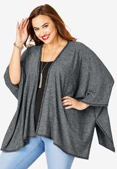 Supersoft Kimono, HEATHER CHARCOAL