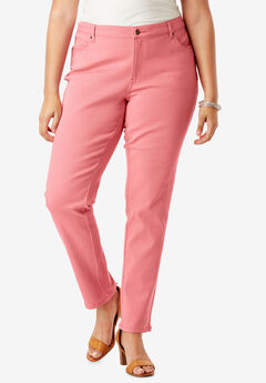 Pretty Boyfriend Jean by Denim 24/7®, CORAL BLUSH