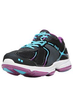 Devotion Sneakers by Ryka®, BLACK DARK PURPLE, hi-res