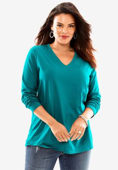 Ultimate V-Neck Long-Sleeve Tee,
