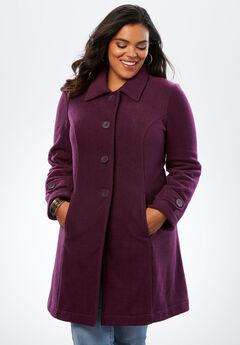 Plush Fleece Jacket, WINTER PLUM