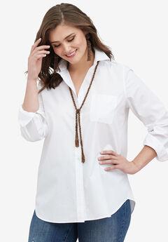 The Boyfriend Shirt , WHITE, hi-res