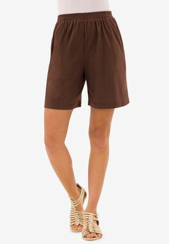 Soft Knit Short, RICH BROWN