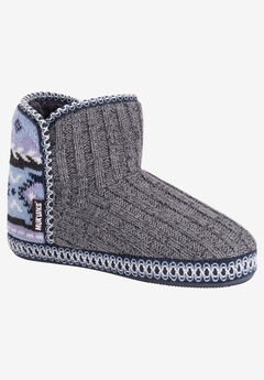 Leigh Slipper Bootie by Muk Luks,