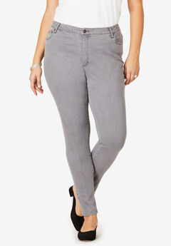 Skinny Jean with Invisible Stretch® by Denim 24/7®, GREY WASH