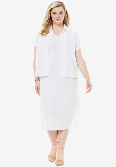 Jacket Dress Set  Plus Size Dresses   Roaman\'s