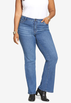 Flared-Leg Jean By Denim 24/7®, MEDIUM WASH