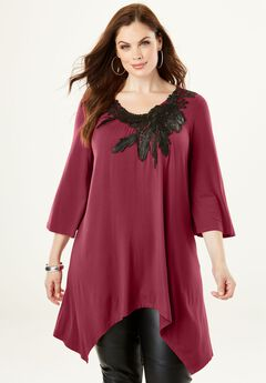 Applique Drape Super Tunic,