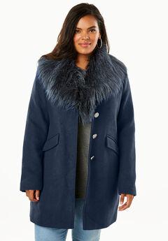 Short Wool-Blend Coat,