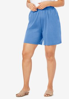 Soft Knit Shorts, HORIZON BLUE