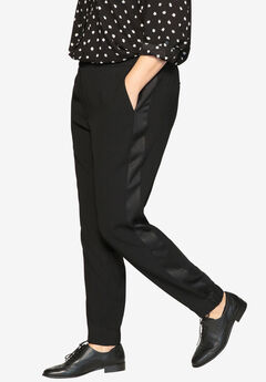 Tuxedo Stripe Pants by Castaluna, BLACK