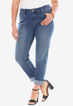 Boyfriend Jeans by Denim 24/7®, MEDIUM WASH, hi-res