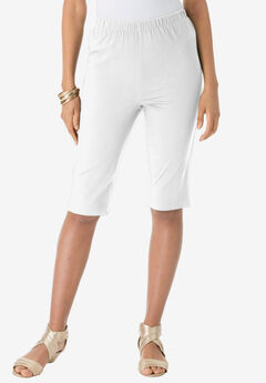 Pull-On Stretch Bermuda Jean Short, WHITE DENIM