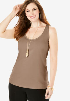 Essential Stretch Tank, NUTMEG