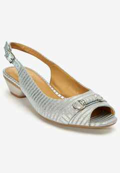 The Priya Slingback by Comfortview®, SILVER