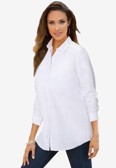 Long-Sleeve Kate Big Shirt, WHITE