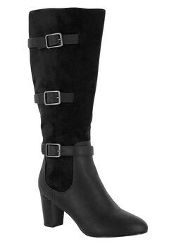 Talina II Boots by Bella Vita®, BLACK BURNISH